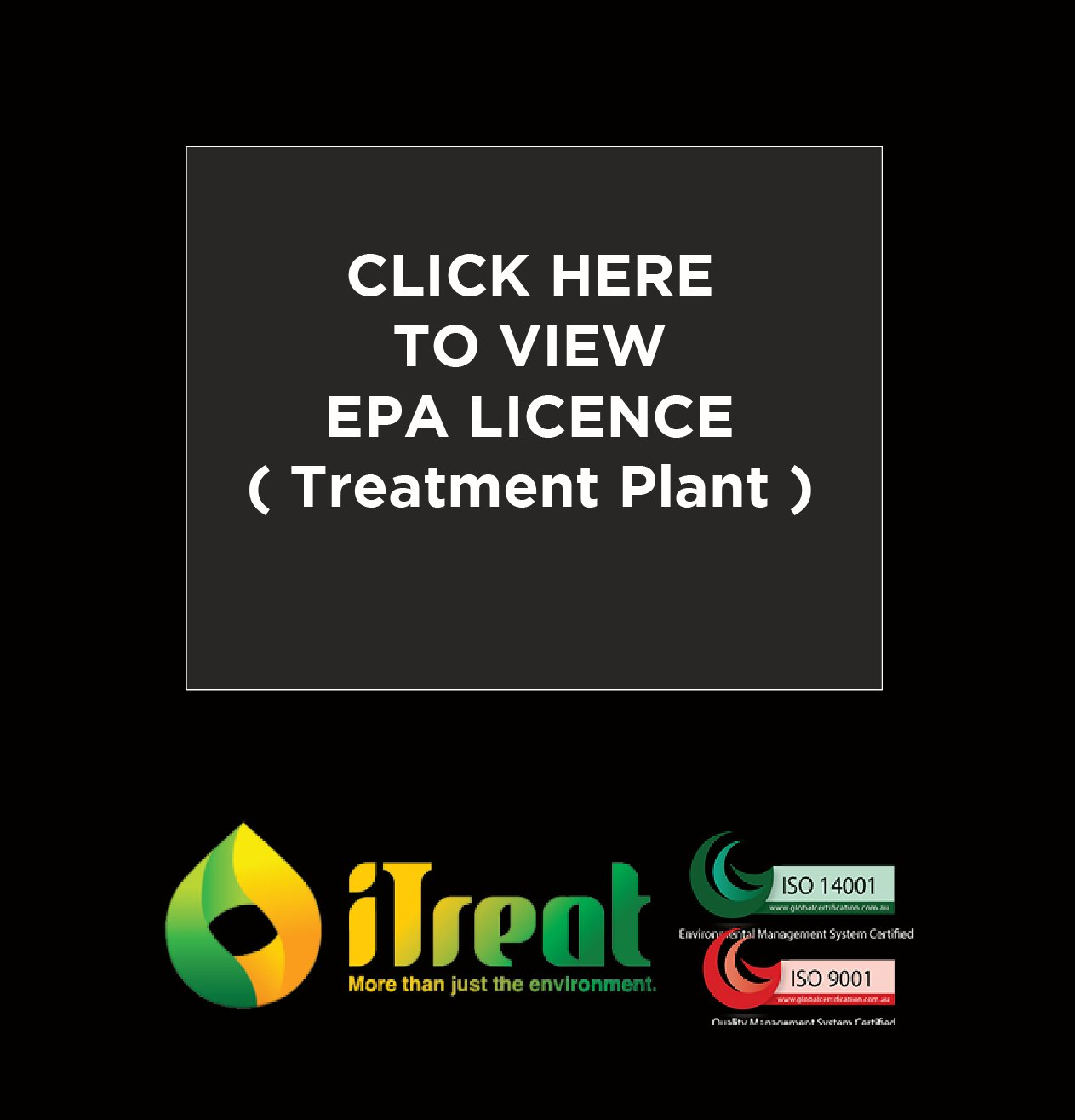 EPA Licence Treatment Plant